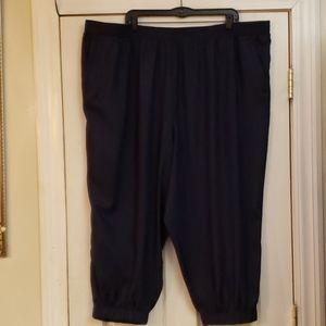 BLAIR WIDE LEG - Elastic Hem Black Pants Size 3XL